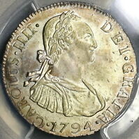 1794-NG PCGS MS 63 Guatemala 2 Reales Colonial Spain Silver Coin (19061304C)