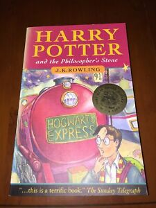 Harry Potter and the Philosopher's Stone 1997 by J.KRowling First Edition 1/23rd