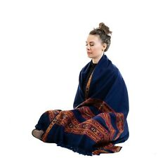 Meditation Shawl or Meditation Blanket, Wool Shawl or Wrap, Oversize Scarf/Stole