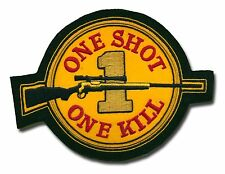 One Shot One Kill Hand Embroiderd Badge  - Sniper