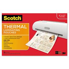 Scotch Menu Size Thermal Laminating Pouches 3 Mil 17 1/2 X 11 051141921211