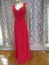 Christina Wtoo Bridesmaid dress Size 12 Pink Chiffon sweetheart neckline