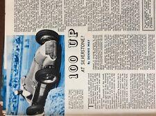 b1M ephemera 1951 article formula one racing fangio 100 up at silverstone