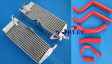 Aluminum Radiator & hose for HONDA CR250 CR250R CR 250 R 1988 1989 88 89 RED