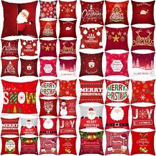 Joyeux Noël Santa housse de coussin taie d'oreiller maison canapé décor de noël