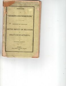 1884 Pamphlet Sketches of Shaker and Shakerism by Giles Avery