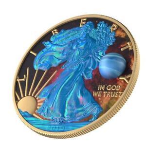 USA 2019 1$ Liberty - Astronomy Neptun 1 Oz Silbermünze