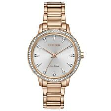 -NEW- Citizen Ladies Silhouette Crystal Eco-Drive Watch FE7043-55A