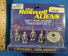 THE ROSWELL ALIENS minis 1996 4 mini's figures MOC new sealed +UFO