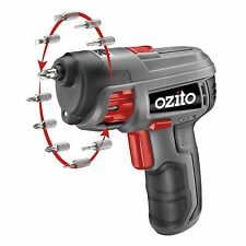 New Ozito 3.6V Li-Ion Auto-Loading Screwdriver 10 Pre-Loaded Driver Bits DIY