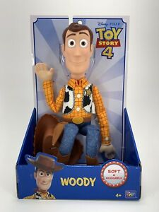 "Disney Pixar Toy Story 4 Sheriff WOODY Soft & Huggable 16"" Action Figure New"