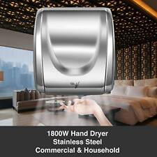 High Speed Commercial 1800W Automatic Eco Heavy Duty Stainless Steel Hand Dryer