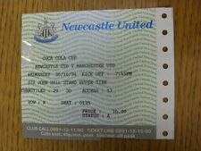 26/10/1994 Ticket: Newcastle United v Manchester United [Football League Cup] .