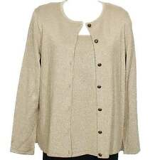 DANA BUCHMAN Camel Gold Shimmer Rayon Blend Twinset Sweater 2X NEW