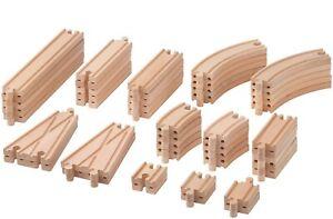 IKEA LILLABO 50Pc Wooden Train Track Set Natural Beech Wood Works w/ Major Brand