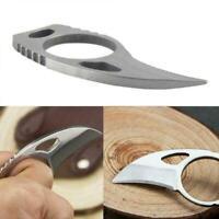 Nett Mini Pocket Finger Paw Selbstverteidigung Überleben Angeln Neck Knif