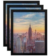 Frame Amo Black Wood Picture Frame or Poster Frame, 3-Pack, 40sizes, Refurbished