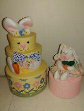 Spring Floral Easter Cardboard Decorative Circular Storage Nesting Gift Box lot
