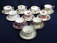 10 English Fine Bone China Tea Cup and + Saucer Sets Royal Albert Royal Adderley