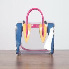 CHRISTIAN LOUBOUTIN 2390$ Paloma S Medium Transparent Multi PVC Bag