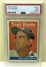 Yogi Berra 1958 Topps Baseball Card #370 PSA 7 NM OC Yankees HOF FREE SHIP WOW