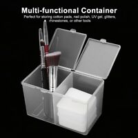 2Grids Cosmetic Organizer Makeup Cotton Pad Swab Case Holder Jewelry Storage Box