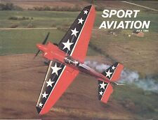 Sport Aviation Magazine Jul 1984 Horizontal Tail Cam Special Ant Eater Eagle
