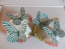 12 PRECUT Zebra Print Edible wafer/rice paper Butterflies cake/cupcake toppers