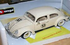 BURAGO CODE 3 VW KAFER BEETLE Modello Diecast Herbie decalcomanie no.53 1955 1:18th