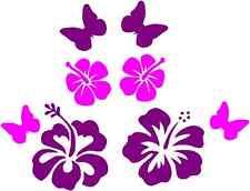 Butterfly Flower Girl Car Sticker Pack Girly x 8