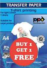 PPD T Shirt Transfer Paper Iron On A4 X 50 Buy 1 Get 1 FREE