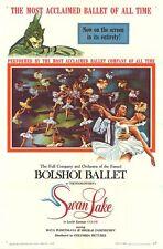 Bolshoi Ballet original 1960 movie poster Swan Lake one sheet 27x41