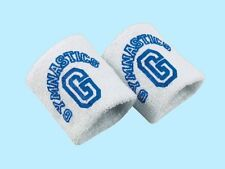 "3"" Wide Cotton & Polyester Blue & White Wristbands - 2 Ply Heavyweight"