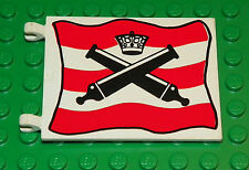 LEGO 6271 - Flag 6 x 4 with Crossed Cannons over Red and White Stripe Pattern