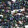 Perles de Rocailles en verre Opaque 4mm Irisé 20g (6/0)