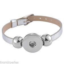 5 Base de Bande de Bracelet Personnalisé Pr Bouton Pression DIY Cadeau 22cm