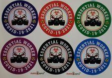 """120 Essential Worker Stickers Hard Hat Helmet Tool Box Decal 2"""" Diameter Each"""