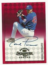 Carl Pavano 1998 Donruss Signature Series Autograph Red Card.