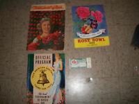 1950 ROSE BOWL PASADENA COLLEGE FOTOTBALL GAME TICKET PROGRAM PICTORIAL MORE!