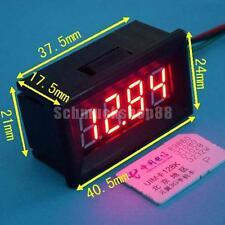 DC 7-30V 4 Digit Mini Digital Panel-Meter Voltmeter KFZ AutoSpannungsanzeigen