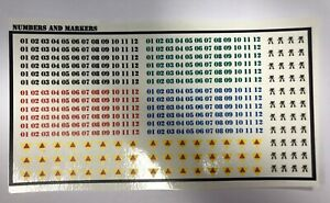 BattleTech - 380x Waterslides Decals - Numerals and Markers