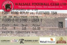 Ticket - Walsall v Fleetwood Town 16.11.10 FA Cup