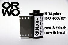 Orwo n74 plus película * ISO 400 35mm new & Fresh película b/w Black & White negativo 135
