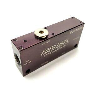 """EDCO USA V20-150M Vacuum Pump/Generator, 20.8n-HG, 80PSI, 1/4""""NPT"""