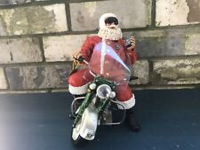 Possible Dreams Clothtique Nick On Motorcycle Santa Claus Figure
