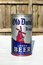 Old Dutch Lager Beer Oi 1939 Brooklyn Ny Flat Top can (105-35 L599) Super Clean!