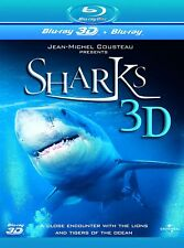 "SHARKS JEAN-MICHEL COUSTEAU IMAX THEATRES 2D+3D BOX SET BLU-RAY RB ""NEW&SEALED"""