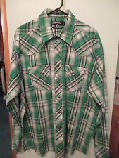 Mens PANHANDLE SLIM 90 Proof Snap Button Western Rodeo Cowboy Shirt Sz XL Nw/oT