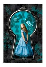 ALICE IN WONDERLAND 2010 ~ KEYHOLE 22x34 MOVIE POSTER Mia Wasikowska Johnny Depp