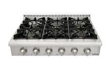 "Thor Kitchen 36"" Gas Range top CSA Listed HRT3606U-M1 W/6 burner StainlessSteel"